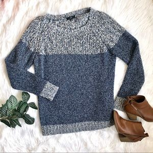 Fate Oversized Teddy Loose Knit Blue Sweater XL